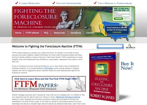 Fighting The Foreclosure Machine